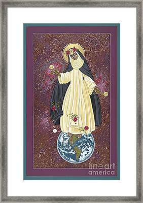 Framed Print featuring the painting Santa Rosa Patroness Of The Americas 166 by William Hart McNichols