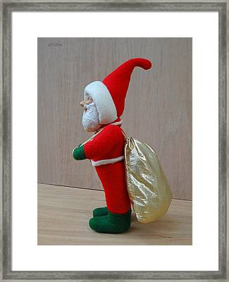 Santa Sr. - Another Load For The Sleigh Framed Print