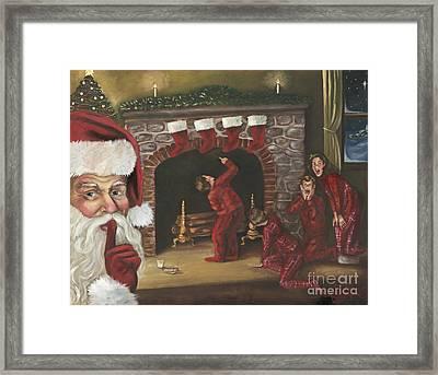 Santa Surprise Framed Print by Kimberly Daniel
