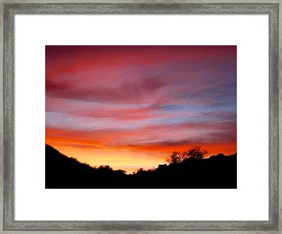 Santa Susana Sundown Framed Print