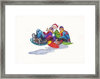 Santa Takes A Break Framed Print