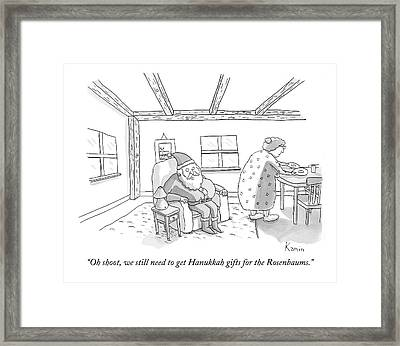 Santa To Wife Framed Print