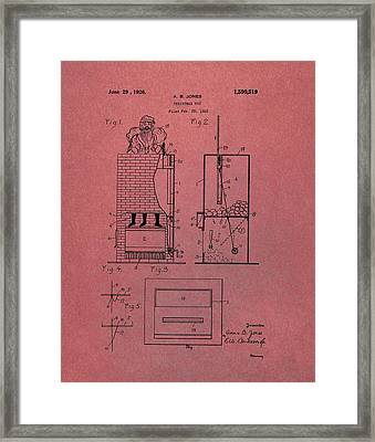 Santa Toy Patent Framed Print by Dan Sproul