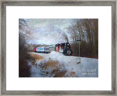 Framed Print featuring the digital art Santa Train - Waterloo Central Railway No Text by Lianne Schneider