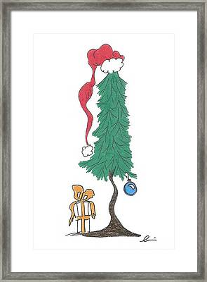 Santa Tree Framed Print