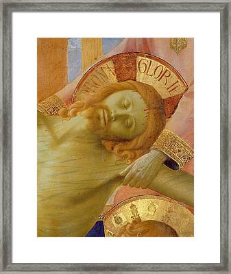 Santa Trinita Altarpiece Framed Print by Fra Angelico