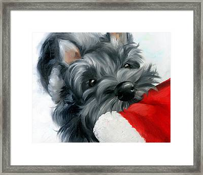 Santa Wait Framed Print