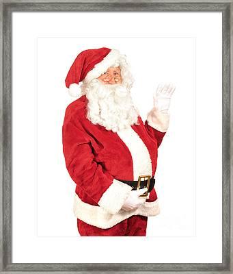 Santa Waving Framed Print by Amanda Elwell