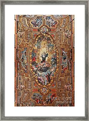 Santarem Cathedral Painted Ceiling Framed Print by Jose Elias - Sofia Pereira
