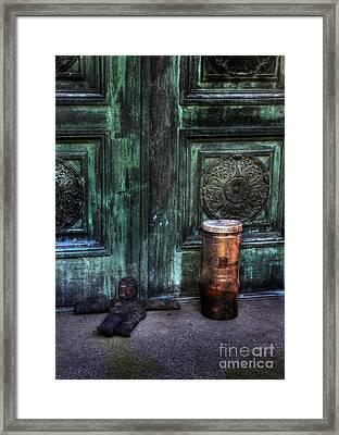 Santaria In The Cemetery -voodoo Doll - Macumba Framed Print by Lee Dos Santos