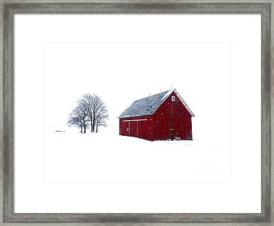 Santa's Barn Framed Print