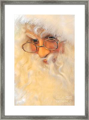 Santa's Beard Framed Print by Vinnie Oakes