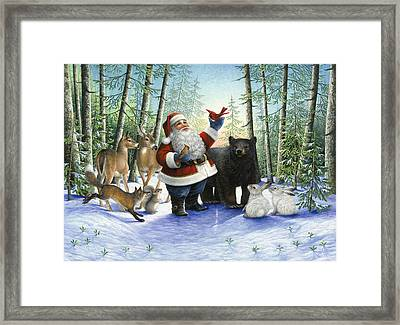 Santa's Christmas Morning Framed Print by Lynn Bywaters