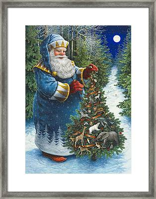 Santa's Christmas Tree Framed Print by Lynn Bywaters
