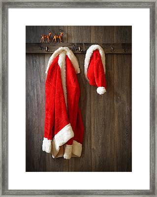 Santa's Coat Framed Print by Amanda Elwell