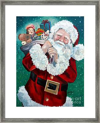 Santa's Coming To Town Framed Print