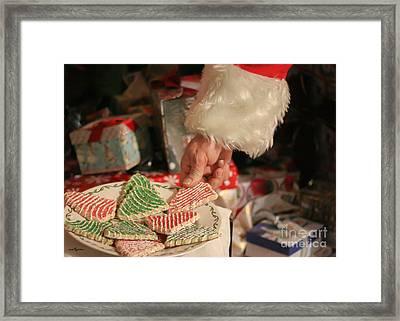 Santas Cookies Framed Print by Mechala  Matthews