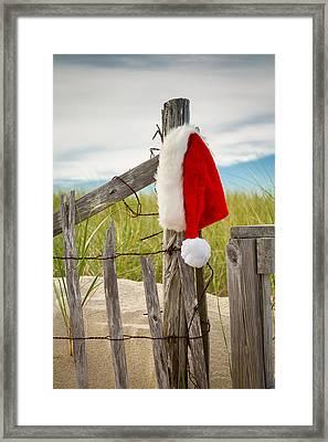 Santa's Downtime Framed Print