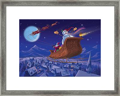 Santa's Helper Framed Print
