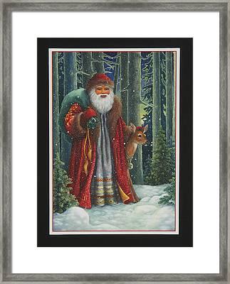 Santa's Journey Framed Print