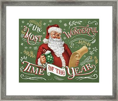 Santas List II Framed Print