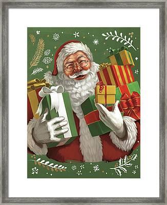 Santas List Iv Crop Framed Print by Janelle Penner