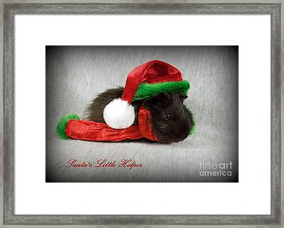Santa's Little Helper Framed Print