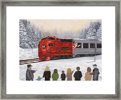 Santa's Miracles Framed Print