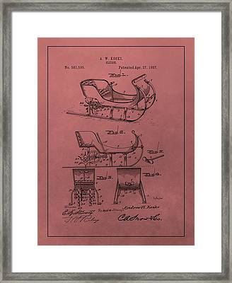Santa's Sleigh Patent 1897 Framed Print by Dan Sproul