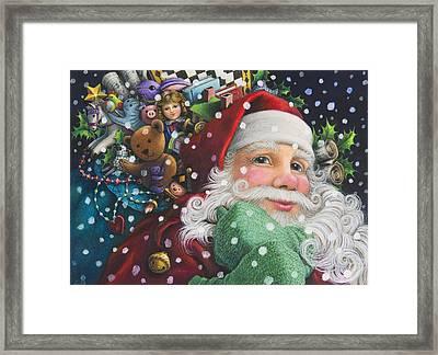 Santa's Toys Framed Print