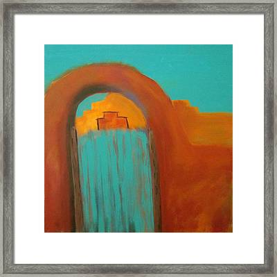 Framed Print featuring the painting Sante Fe by Keith Thue