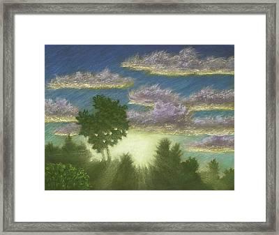 Santee Sunset 01 Framed Print