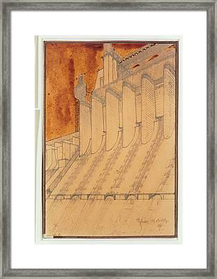 Santelia Antonio, Electric Power Plant Framed Print by Everett