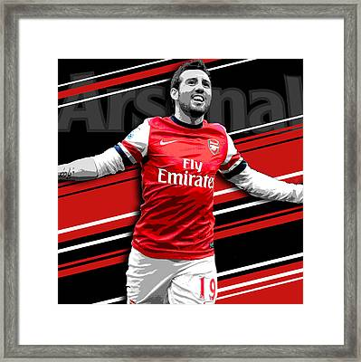Santi Cazorla Arsenal Print Framed Print