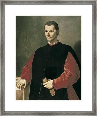 Santi Di Tito 1536-1603. Portrait Framed Print
