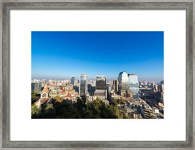 Santiago Chile Cityscape Framed Print