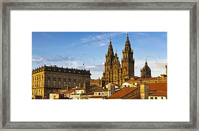 Framed Print featuring the photograph Santiago De Compostela Cathedral Galicia Spain by Pablo Avanzini