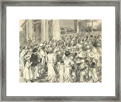 Santiago Refugees 1898 Framed Print