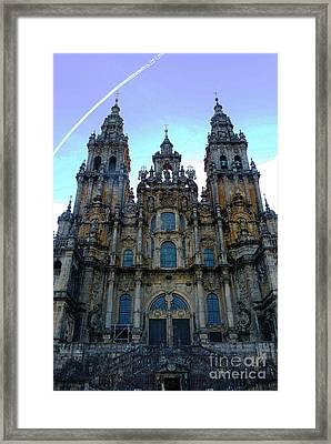 Santiago Skyline Framed Print