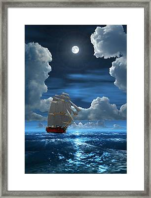 Santisima Trinida In The Moonlight 2 Framed Print