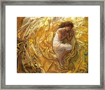Framed Print featuring the painting Santita  by Mia Tavonatti