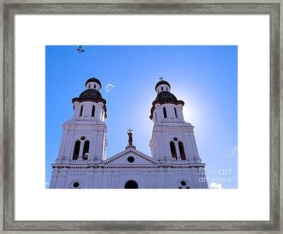 Santo Domingo Church In Cuenca Ecuador Framed Print by Al Bourassa
