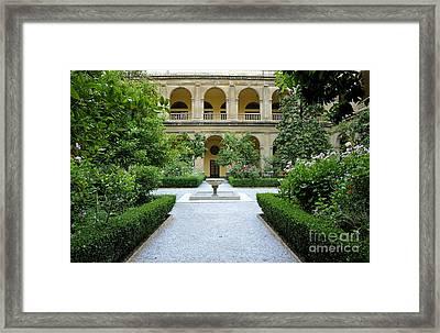 Santo Domingo Courtyard Framed Print by Guido Montanes Castillo