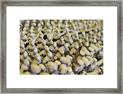 Santon De Provence Unpainted Framed Print by Sami Sarkis
