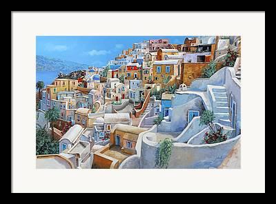 Mediterranean Paintings Framed Prints