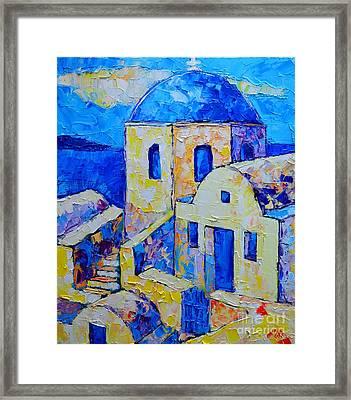 Santorini Afternoon Framed Print by Ana Maria Edulescu