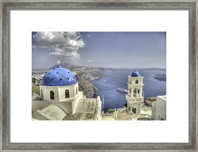 Santorini Churches Framed Print