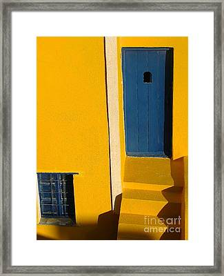 Santorini Doorway Framed Print