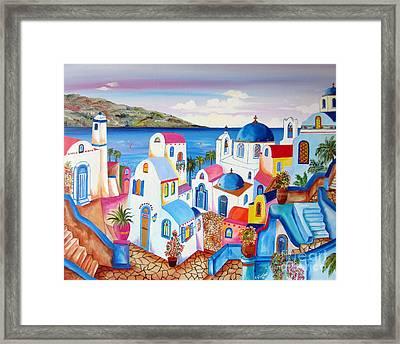 Santorini Greece Framed Print