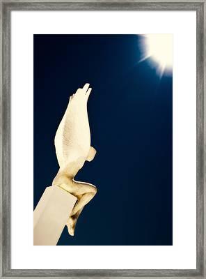 Framed Print featuring the photograph Santorini Guardian by Meirion Matthias